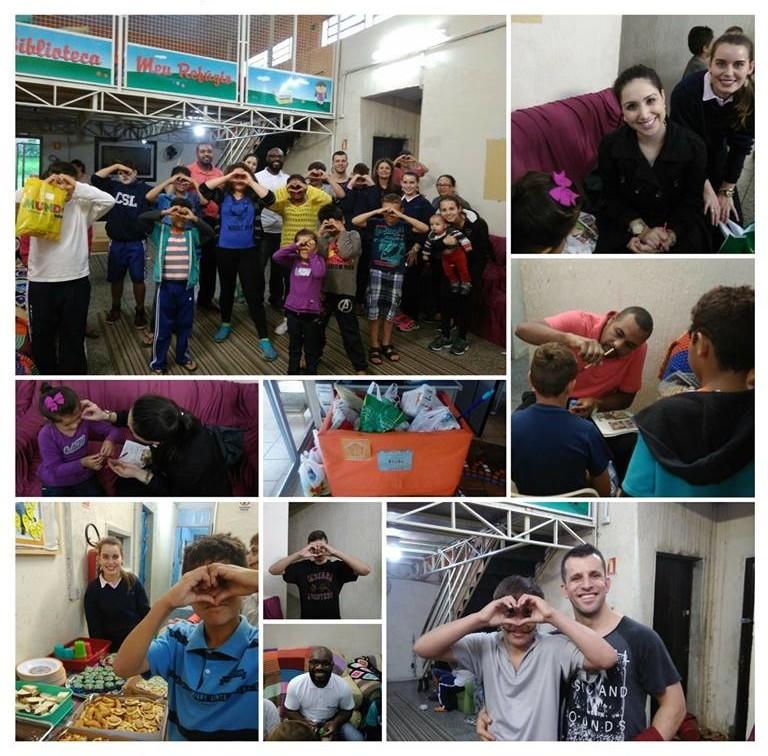 Entrega das doação no Casa Lar Abrigo Meu Refúgio Sapucaia do Sul
