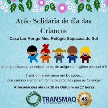 Ação Solidária de dia das Crianças